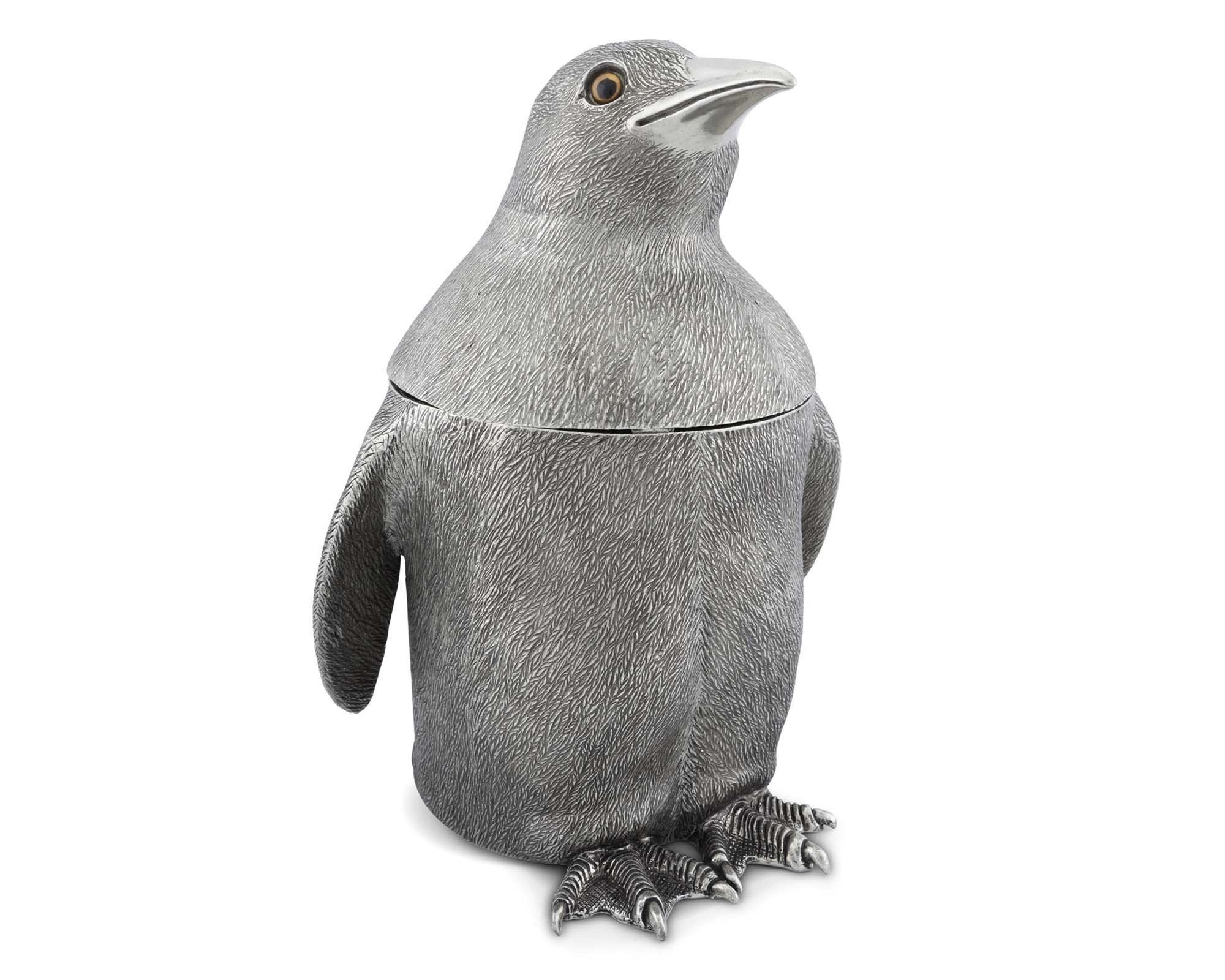 Pewter Penguin Ice Bucket