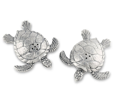 Pewter Sea Turtles Salt & Pepper Set