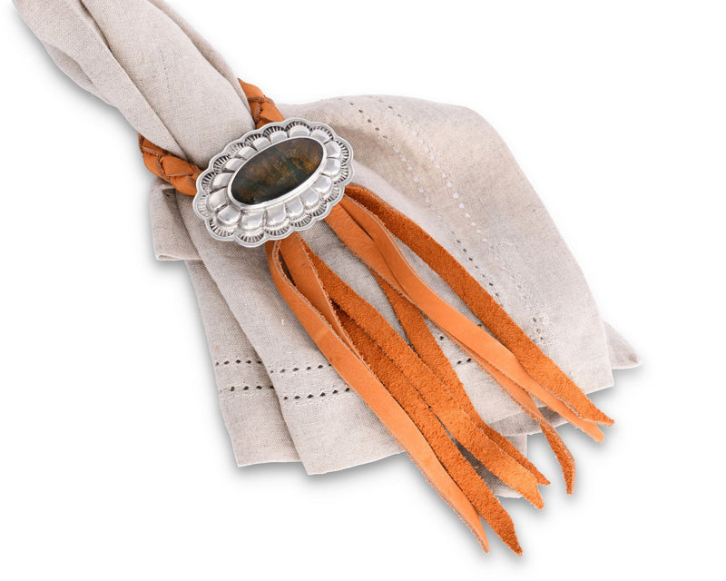 Concho Leather Napkin Ring