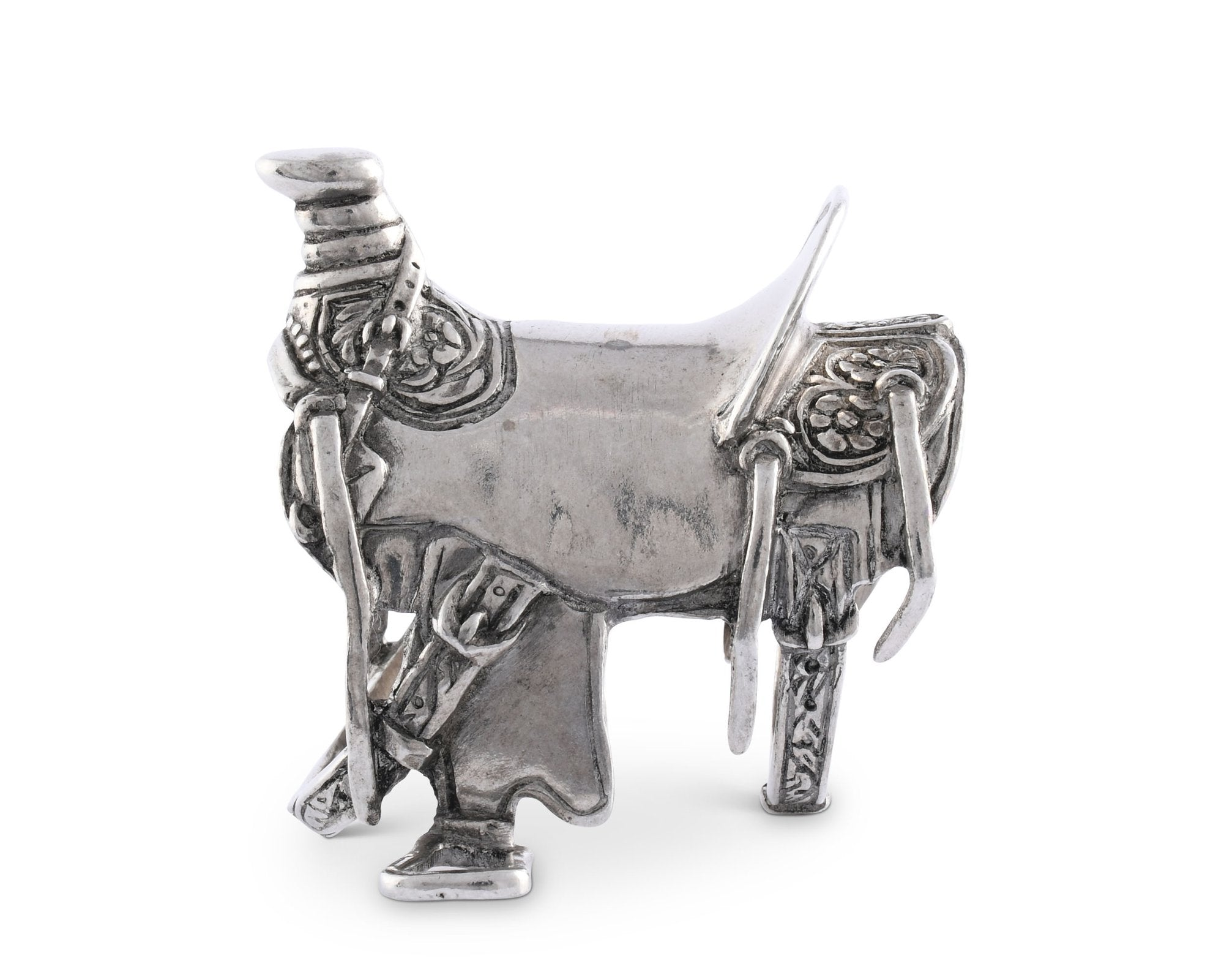 Pewter Cowboy Saddle Napkin Ring