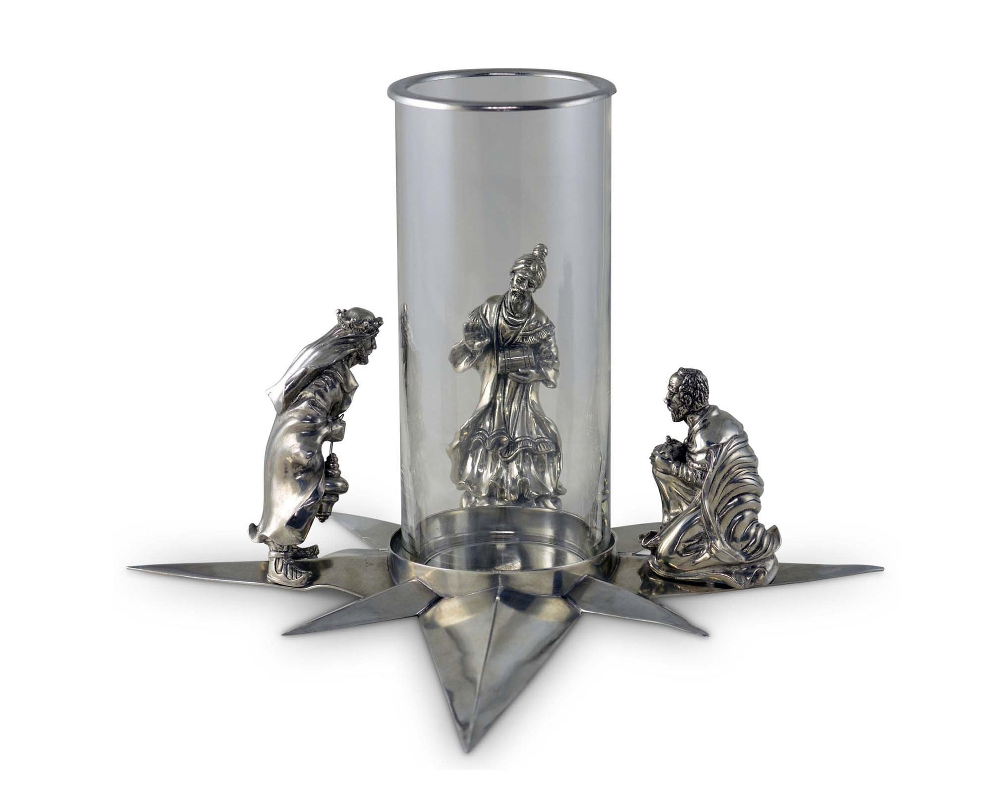 Pewter 3 Wise Men Centerpiece