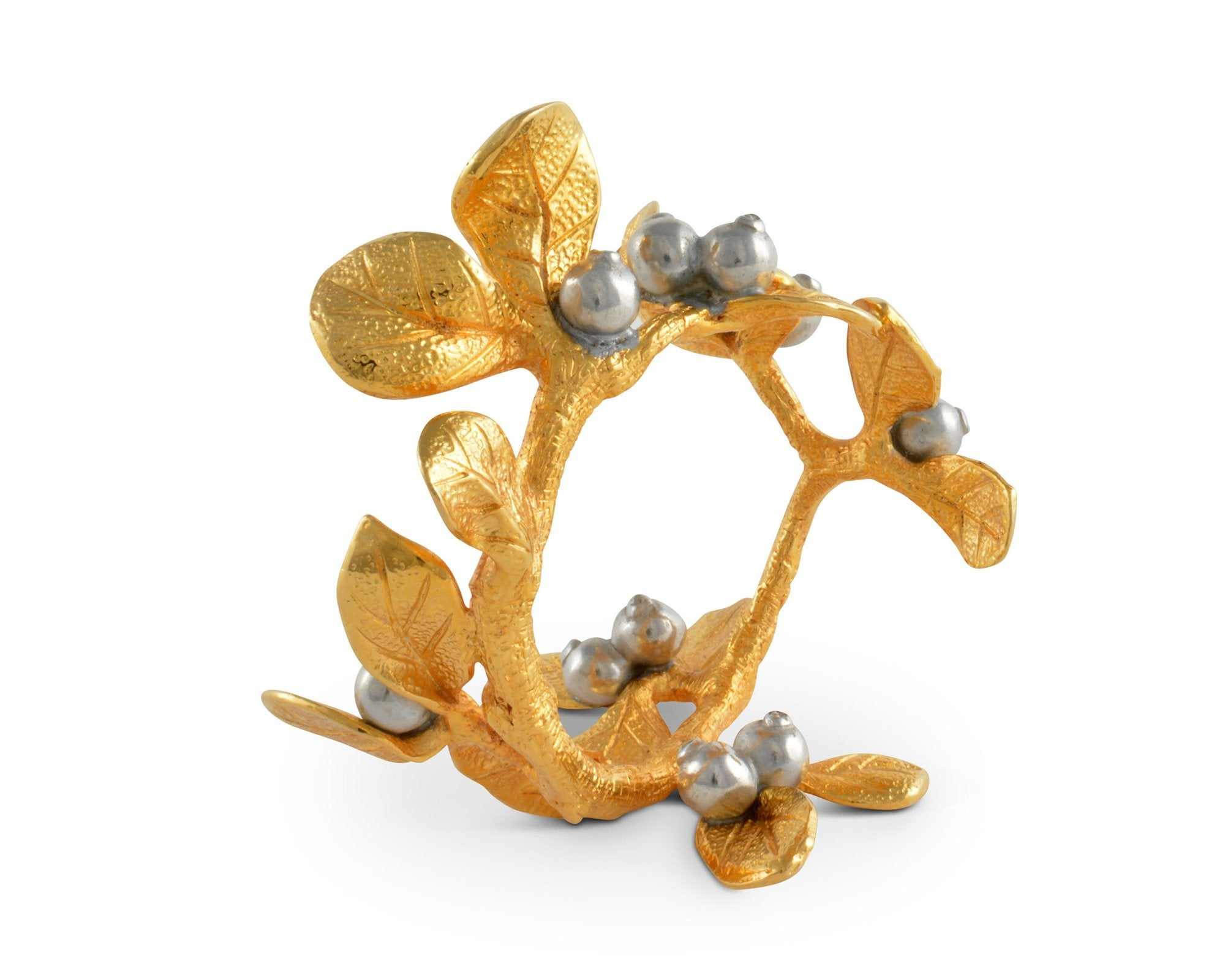 Golden Winter Berry Napkin Ring