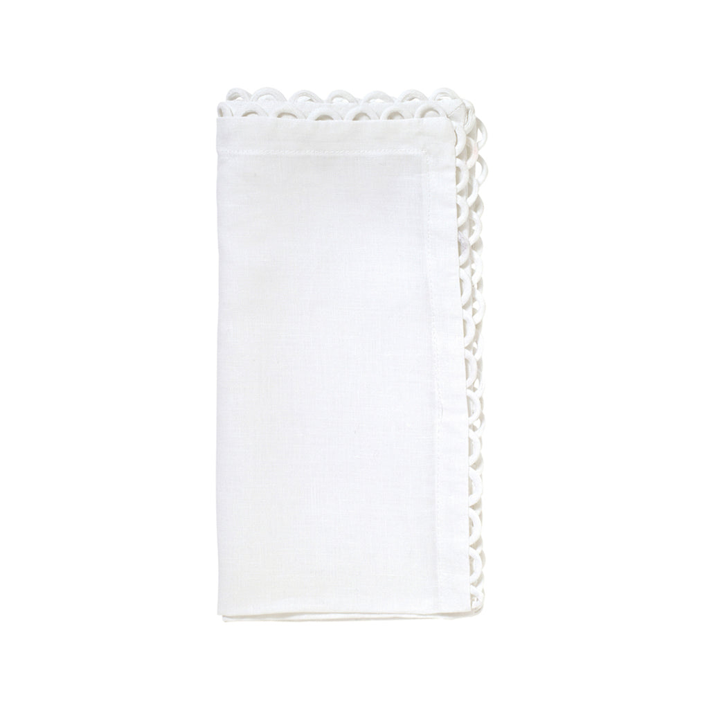 Set of 4 Loop Edge Napkins