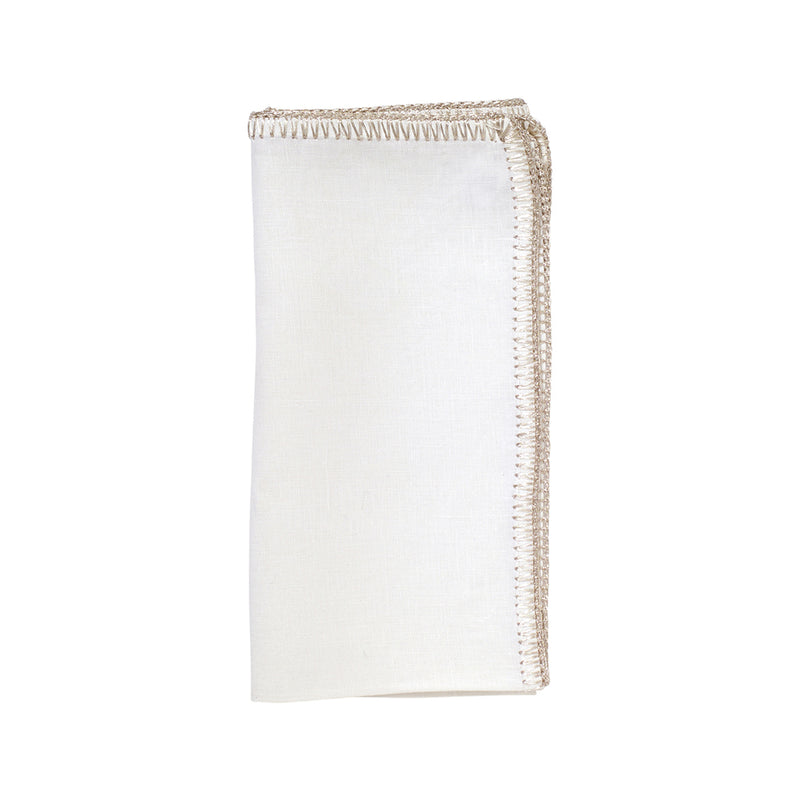 Set of 4 Crochet Edge Napkins