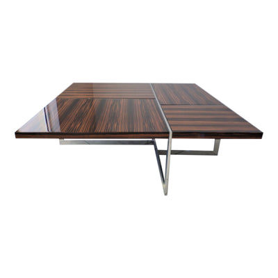 Macassar Ebony High Gloss Square Cocktail Table