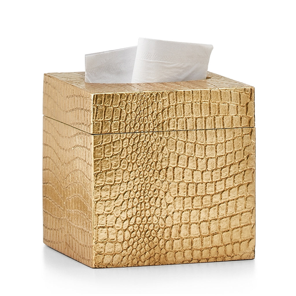 Crocodile Gold Tissue Cover
