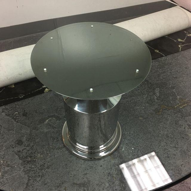 Brueton Polished Stainless Steel Pedestal Dining Table Base