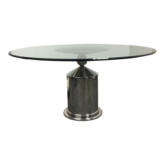 Contemporary Pedestal Polished Stainless Steel - Vintage