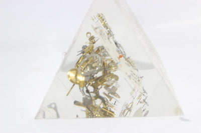 Exploded Clock Parts Acrylic Sculpture in Manner of Pierre Giraudon,  Acrylic Sculpture in Manner of Pierre Giraudon