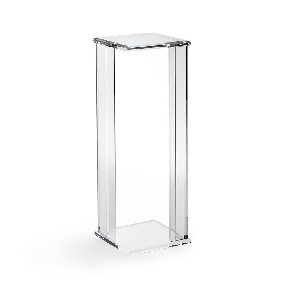 "Art Pedestal Acrylic and Glass 40"" Ht"