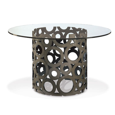 Silver Sycamore Dining Table Matsouka Bubbles