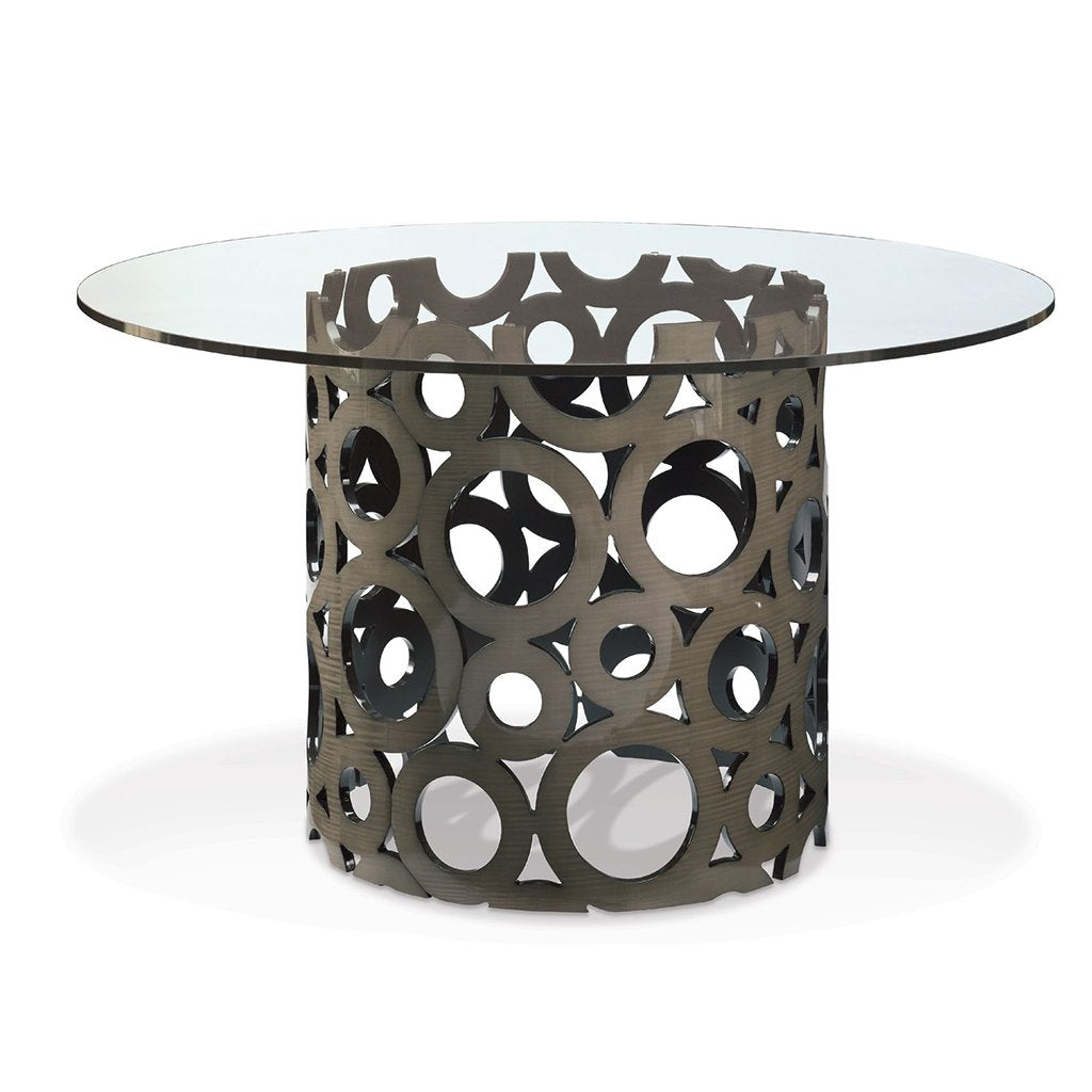 Matsouka Bubbles Dining Table Base Silver Sycamore