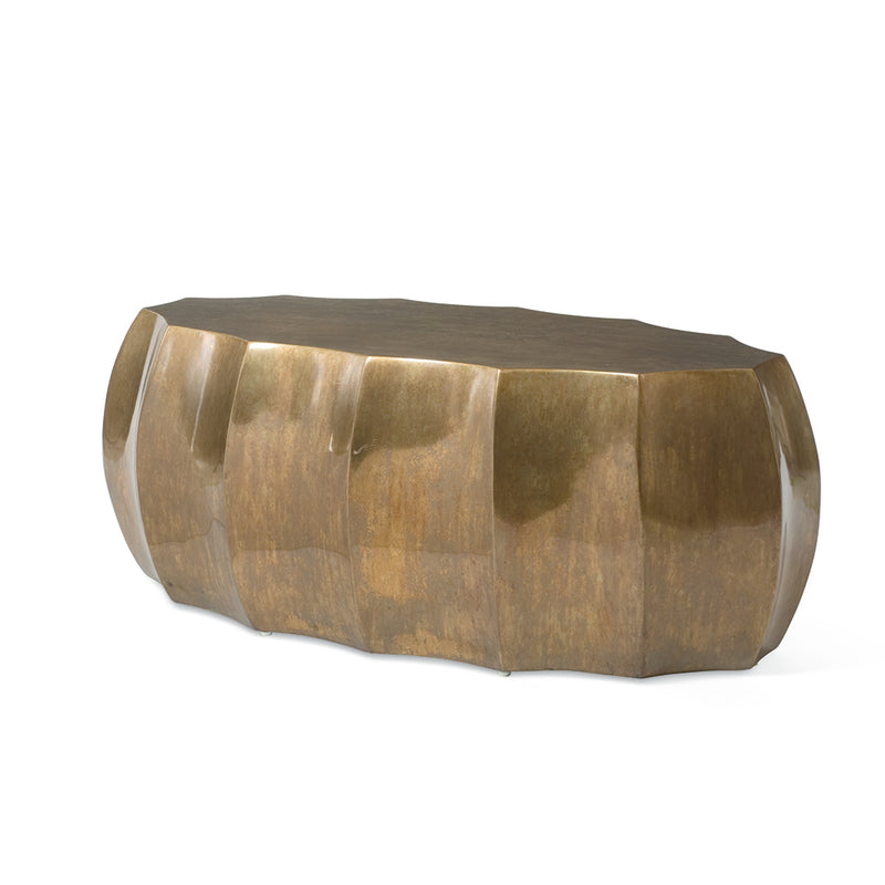 Century SF5475 Bronze Oval formed Cocktail Table