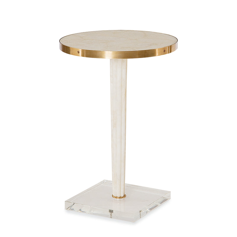 Century Furniture SF5487, Inlaid Crystal Accent Table with Acrylic Base