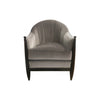 Swaim Grey Mohair Chair