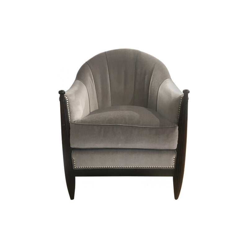 F112C26 Accent Chair Swaim, Accent Chair in Velvet Fabric