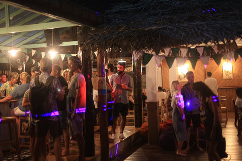 Socialising at The Happy Bay Guesthouse in Weligama Sri Lanka