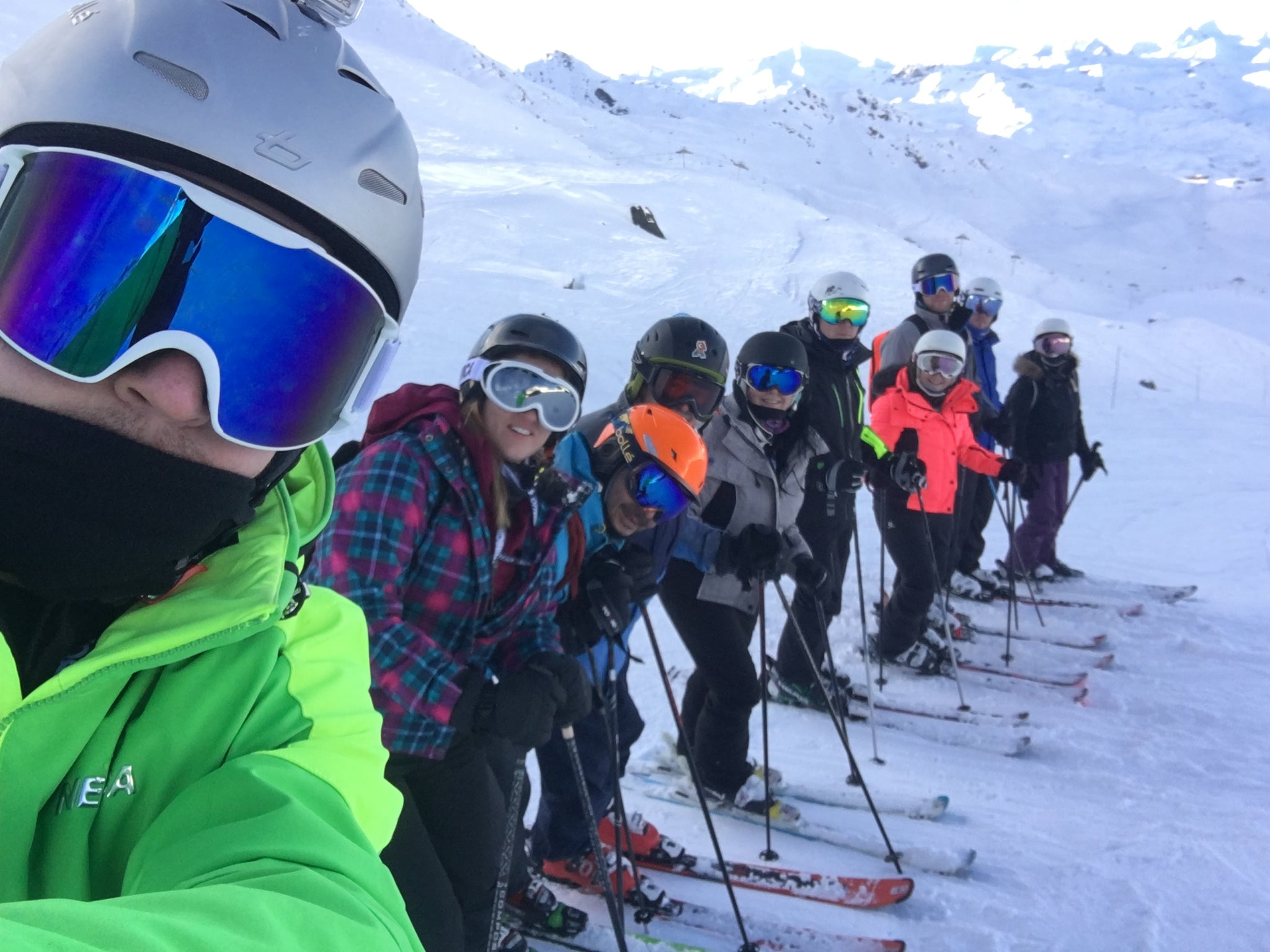 Ski group selfie - Irish Bootstrapper
