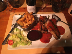 Skiing - La Petite Ferme food - Irish Bootstrapper