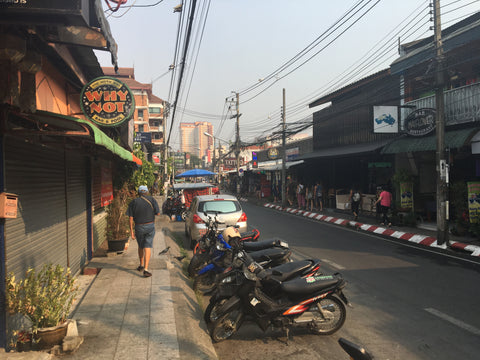 Old City street Chiang Mai - Irish Bootstrapper