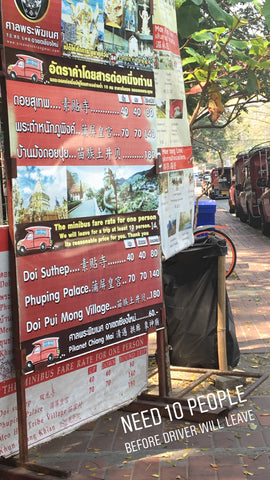 Doi Suthep Songthaew Stop Info - Irish Bootstrapper