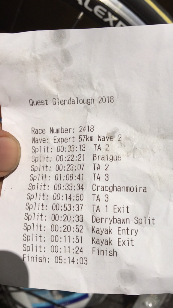 Quest Glendalough 2018 My Results - Irish Bootstrapper