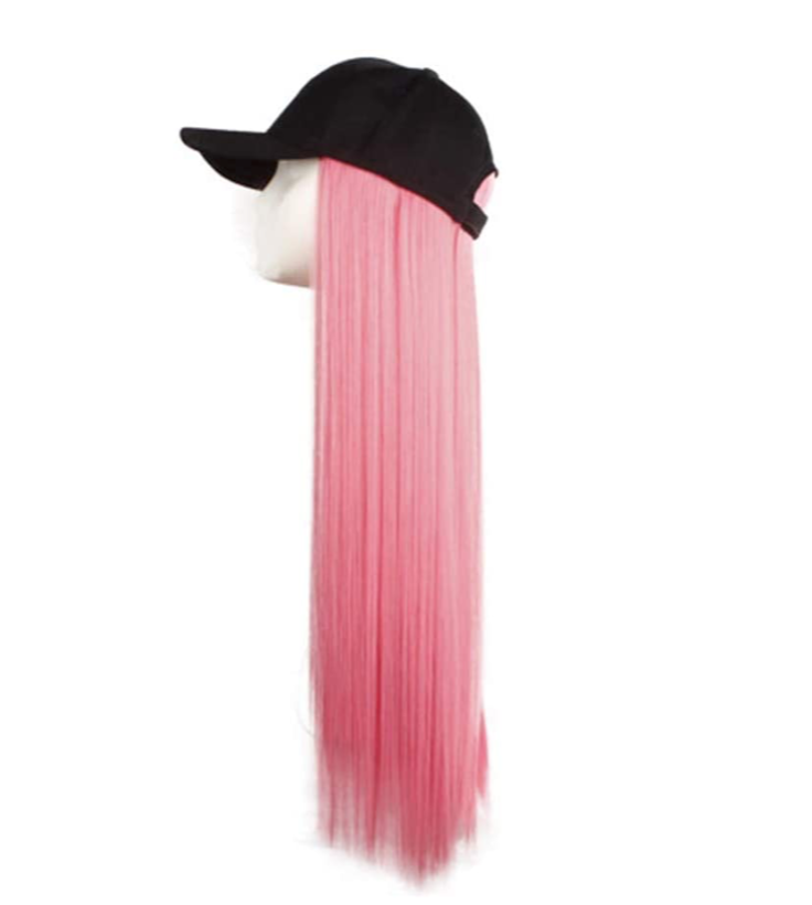 Stay Ready Baseball Cap Colored Wig