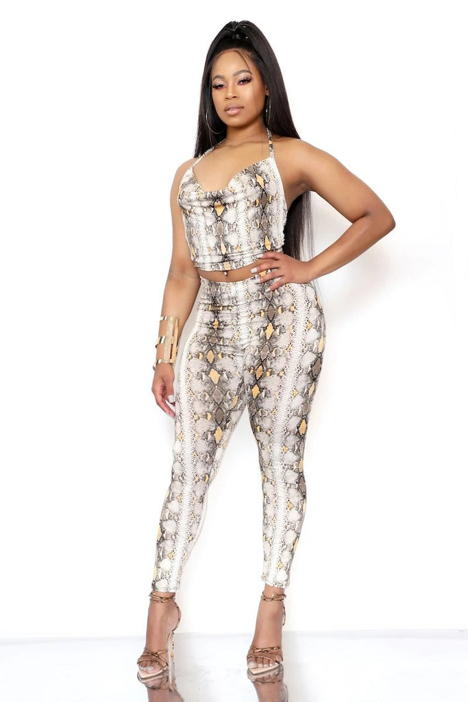 GOLD PYTHON SET - Glamazontay Apparel Studio