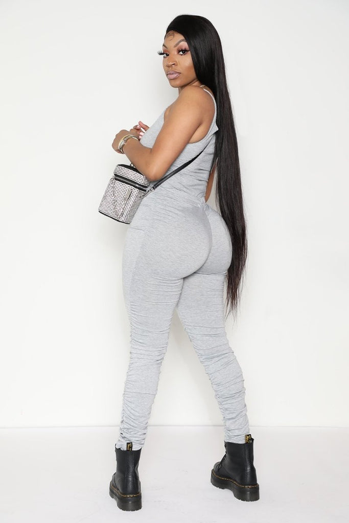 Just like that body suit and stacked pants Set - Glamazontay Apparel Studio