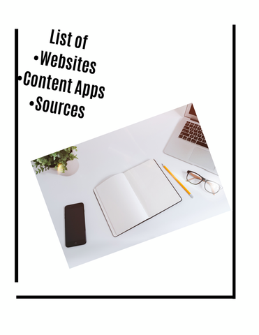 WEBSITES, CONTENT APPS & SOURCES LIST