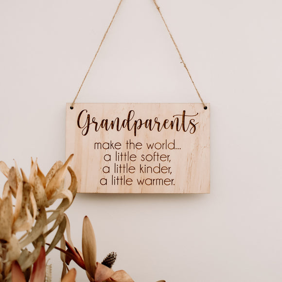 Grandparents hanging plaque