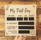 My First Day/My Last Day Plaque (25cm square)