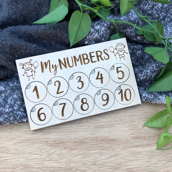 My Numbers Board
