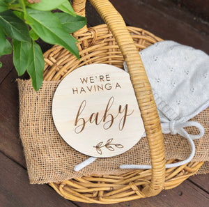 We're having a baby plaque