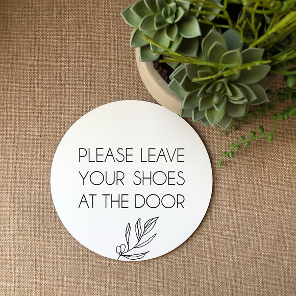 Shoes at the door Plaque