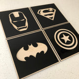 Superhero signs (set of 4)
