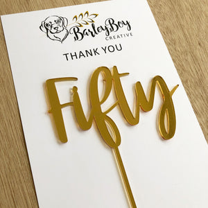 Cake topper - Number (word style)