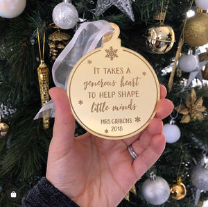 Teacher gift Christmas decoration