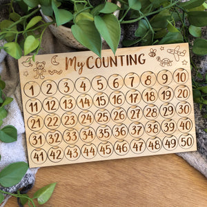 My Counting Board 1-50