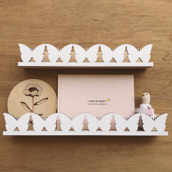 Butterfly shelves