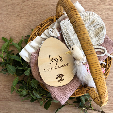 Easter basket plaque