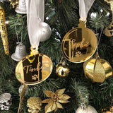 Gold Mirror Christmas decoration
