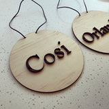 Pine + Acrylic name plaque