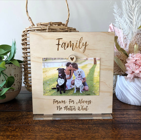 Family photo plaque