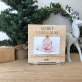Merry Christmas standing photo frame