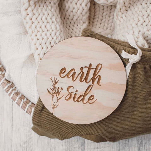 Earth side plaque