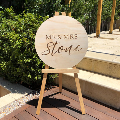 Round Sign (Laser Engraved)