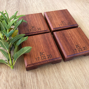 Coaster with bottle opener - Jarrah