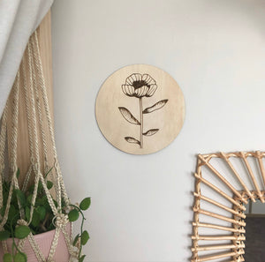 Flower Plaque