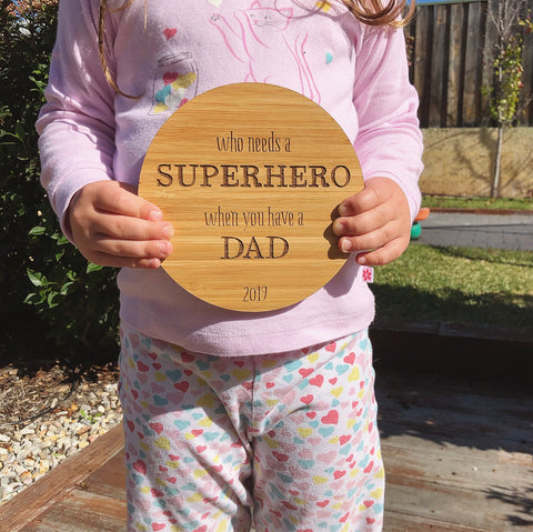 Superhero Plaque